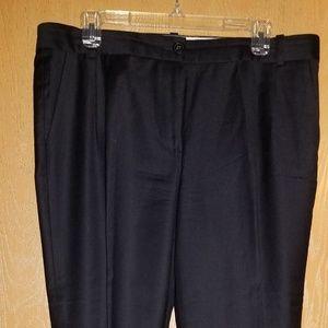 Black wool ankle pants